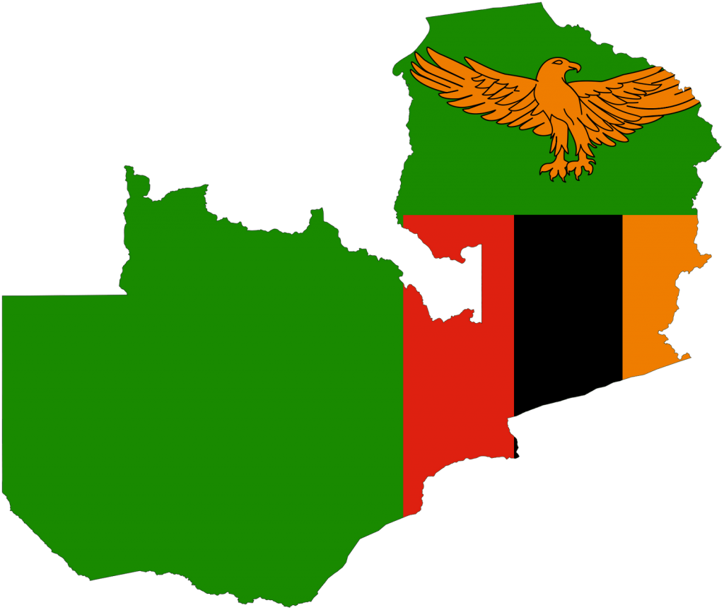 Zambia Flag and Map